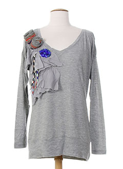 MISSONI T-shirt / Top GRIS Top FEMME (photo)