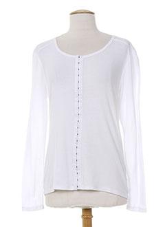 R 867 T-shirt / Top BLANC Manche longue FEMME (photo)