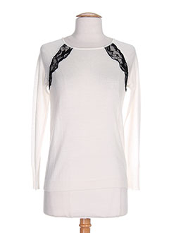 SINEQUANONE Pull BEIGE Col rond FEMME (photo)
