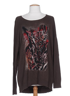 GERRY WEBER Pull MARRON Col rond FEMME (photo)