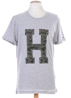TOMMY HILFIGER T-shirt / Top GRIS Manche courte HOMME (photo)