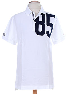 TOMMY HILFIGER T-shirt / Top BLANC Polo HOMME (photo)