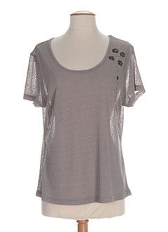 ALL BEAUTIFUL T-shirt / Top GRIS Manche courte FEMME (photo)