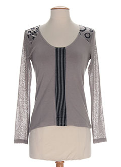 ALL BEAUTIFUL T-shirt / Top GRIS Manche longue FEMME (photo)