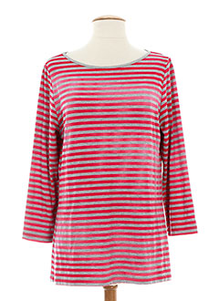 LE PHARE DE LA BALEINE T-shirt / Top ROUGE Manche longue FEMME (photo)
