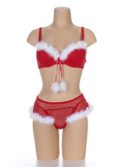 VALEGE Lingerie ROUGE Le ensemble FEMME (photo)